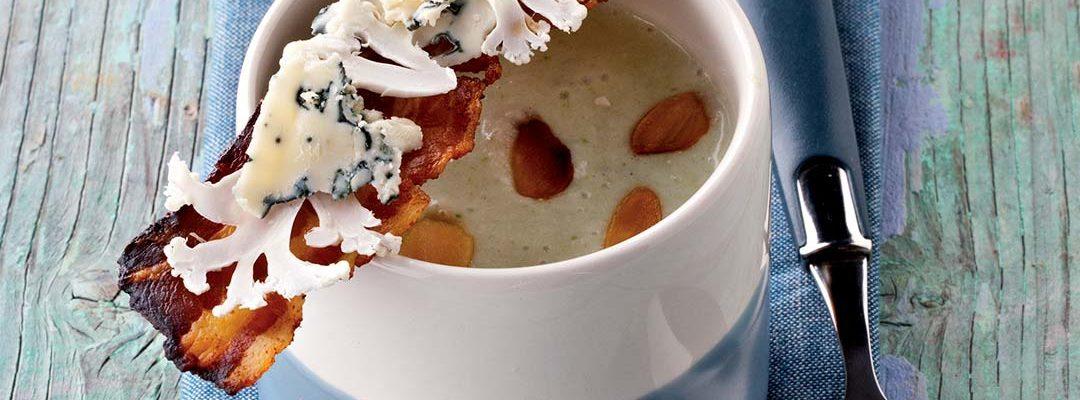 Crème de chou-fleur au Bleu d'Auvergne