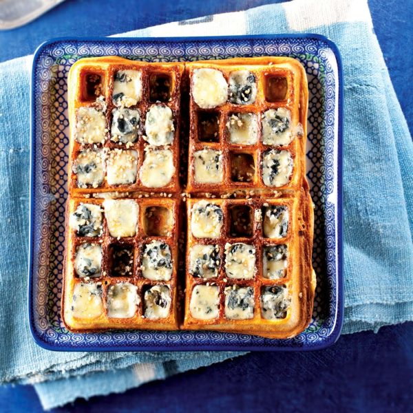 Bleu d'Auvergne waffles