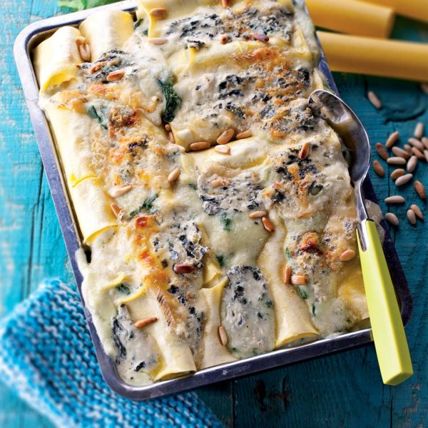 Gratin de cannelloni au Bleu d'Auvergne