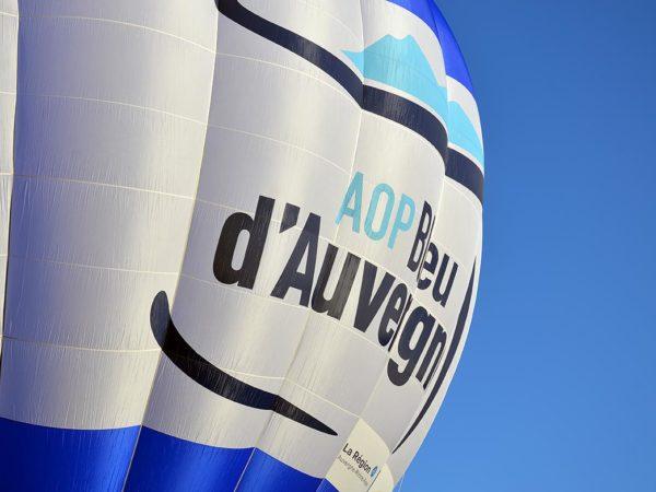 A hot air balloon for Bleu d'Auvergne PDO