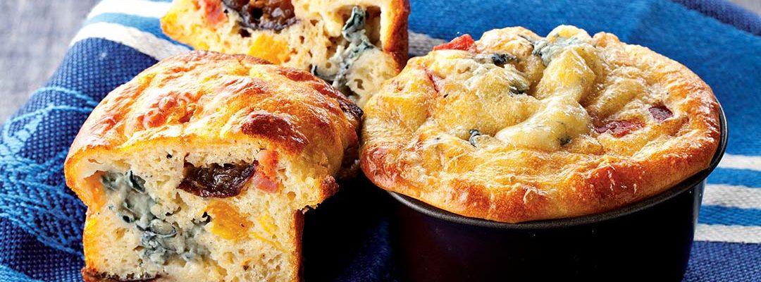Mini muffins au Bleu d'Auvergne