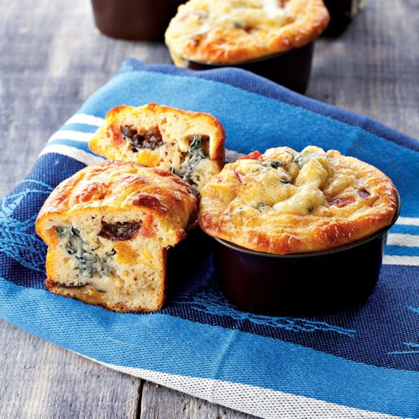 Mini Bleu d'Auvergne muffins