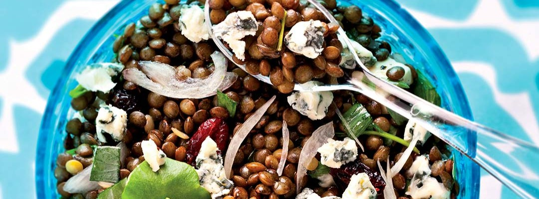 Lentils and Bleu d'Auvergne salad