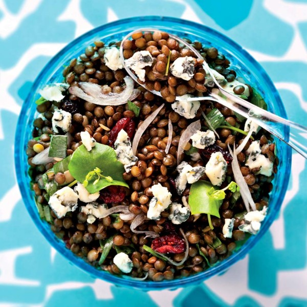 Lentils and Bleu d'Auvergne salad