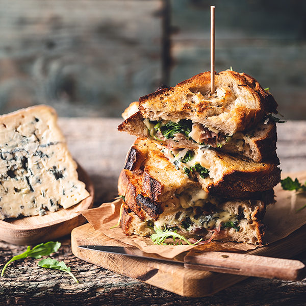 Grilled Cheese Sandwich met AOP Bleu d'Auvergne