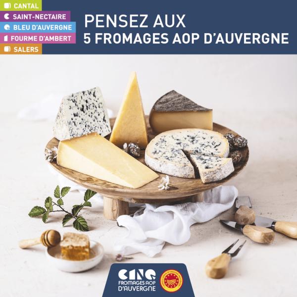 Soutenez nos producteurs: dégustez du Bleu d'Auvergne et des AOP fromagères d'Auvergne